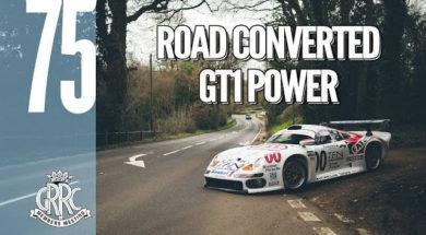 En route pour Goodwood en Porsche 911 GT1 street version