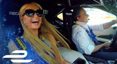 Baptême de piste pour Paris Hilton en BMW i8