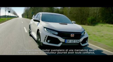 Civic Type R, sur la route du Nürburgring