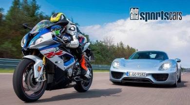 Duel à 300 km, moto contre auto, BMW 1000 RR contre Porsche 918 Spyder