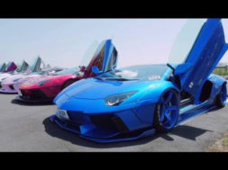 Meeting au pays des mangas de supercars modifiées par Liberty Walk et Fi Exhaust