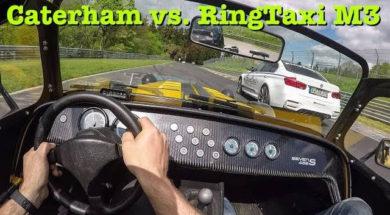 Caterham 485S vs RingTaxi M3 au Nürburgring