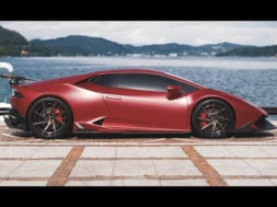 Une Lamborghini Huracán rugissante