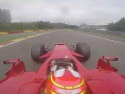 Caméra embarquée à Spa dans une Ferrari F1 de 2008