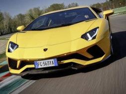 La Lamborghini Aventador S à Imola