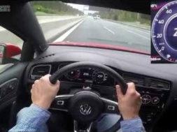 Volkswagen Golf GTI Performance, pied au planche sur l'Autobahn