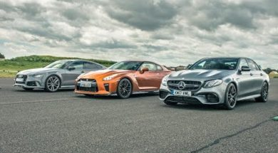 DRAG RACE Nissan GT-R vs Audi RS7 vs Mercedes E63 S AMG
