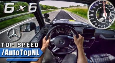 Le MERCEDES G63 AMG 6X6 sur l'Autobahn