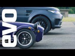 Le Range Rover Sport SVR face à la Caterham Seven 360R ou quand trop de puissance nuit