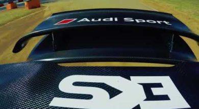 La dernière manche de rallycross en Afrique du Sud, un tour avec Mattias Ekström