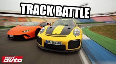 La Porsche 911 GT2 RS face à la Lamborghini Huracán Performante