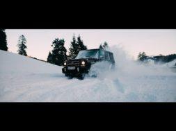L'inusable Mercedes-AMG G63 s'éclate dans la neige