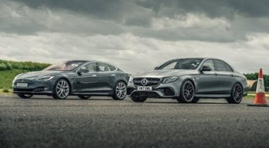 Top Gear face-à-face Tesla Model S P100D – Mercedes-AMG E63 S