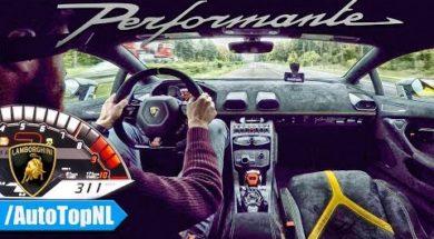 311 kmh en Lamborghini Huracán Performante sur l'Autobahn