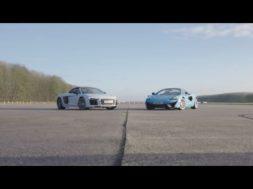 Qui sera la plus rapide Audi R8 V10 Plus vs McLaren 570S Spider