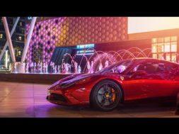 Séance shopping spéciale à Dubaï pour MrJWW en Ferrari Speciale