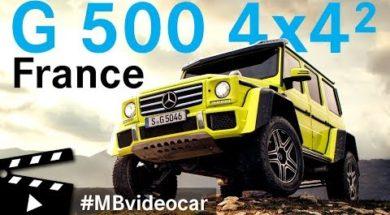 Le Mercedes-Benz G 500 4×4² se balade dans le Sud de la France