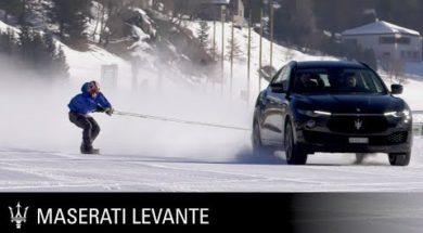 Maserati Levante, Snowboard et record