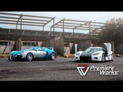 Face-à-face une Bugatti Veyron et une Koenigsegg CCX