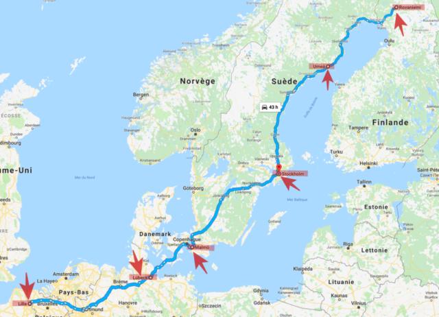Lille Rovaniemi en Saab pour la bonne cause