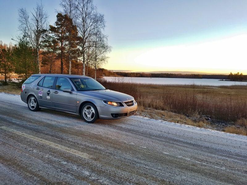 Roadtrip Lille - Rovaniemi. Le coucher de soleil de 13h50...