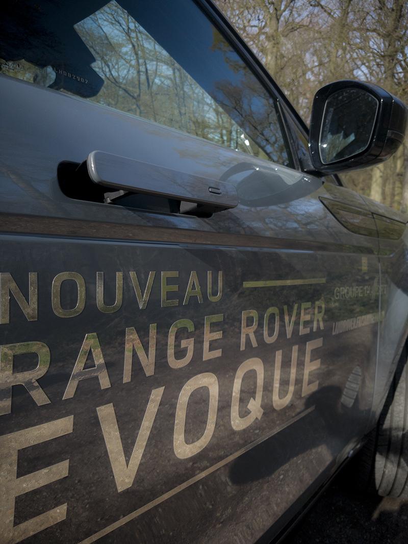 Range Rover Evoque et ses poignées de porte rétractables