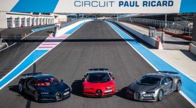 Bugatti Chiron et Chiron Sport à l'extrême au Paul Ricard