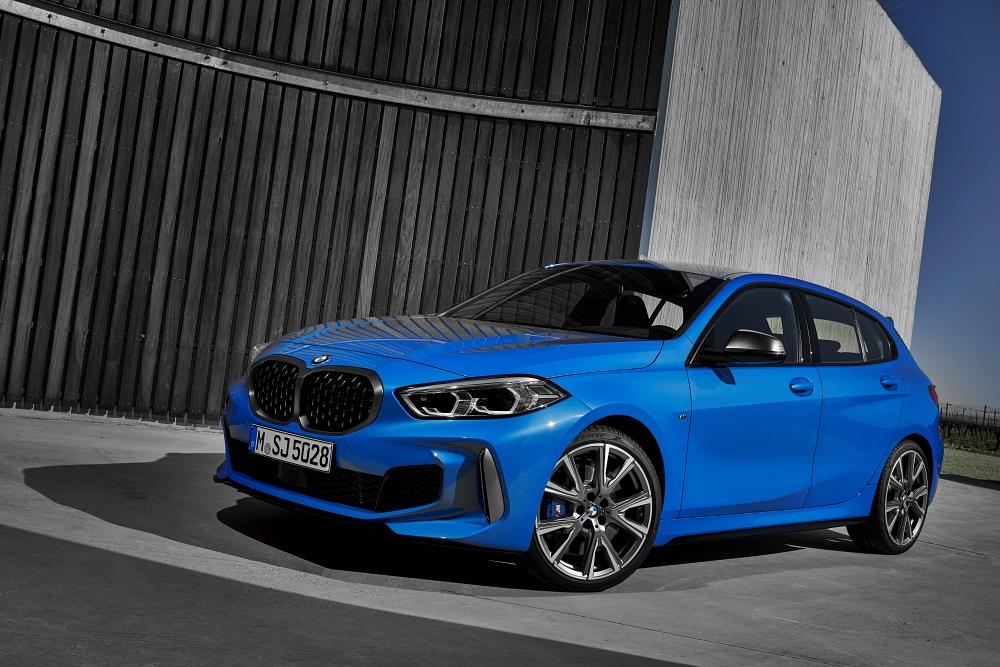 3/4 avant de la nouvelle BMW série 1