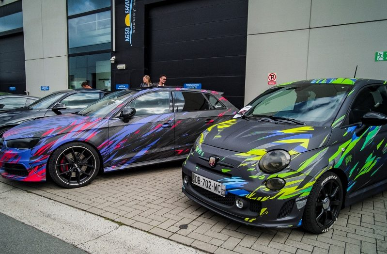 En ligne Fiat 500 Abarth – Audi S3 – Carbon Knokke 2019