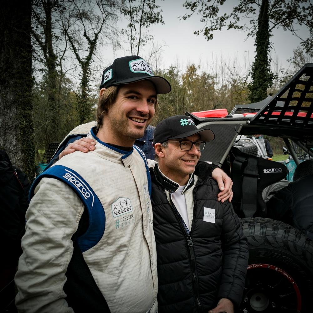 Champion ! Avec son copilote François Beguin - Axel Allétru, champion de l'impossible